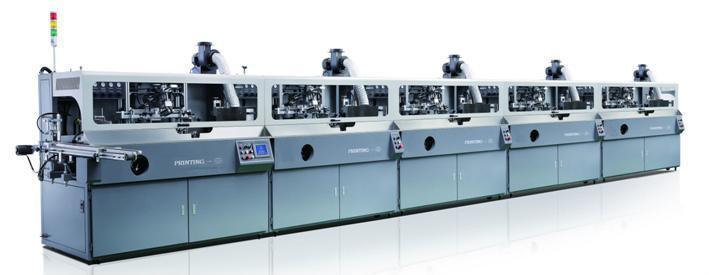 5 colours automatic screen printer 1