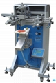 Flat screen printing machine with