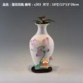 供应陶瓷莲花花瓶中式家居装饰品 1