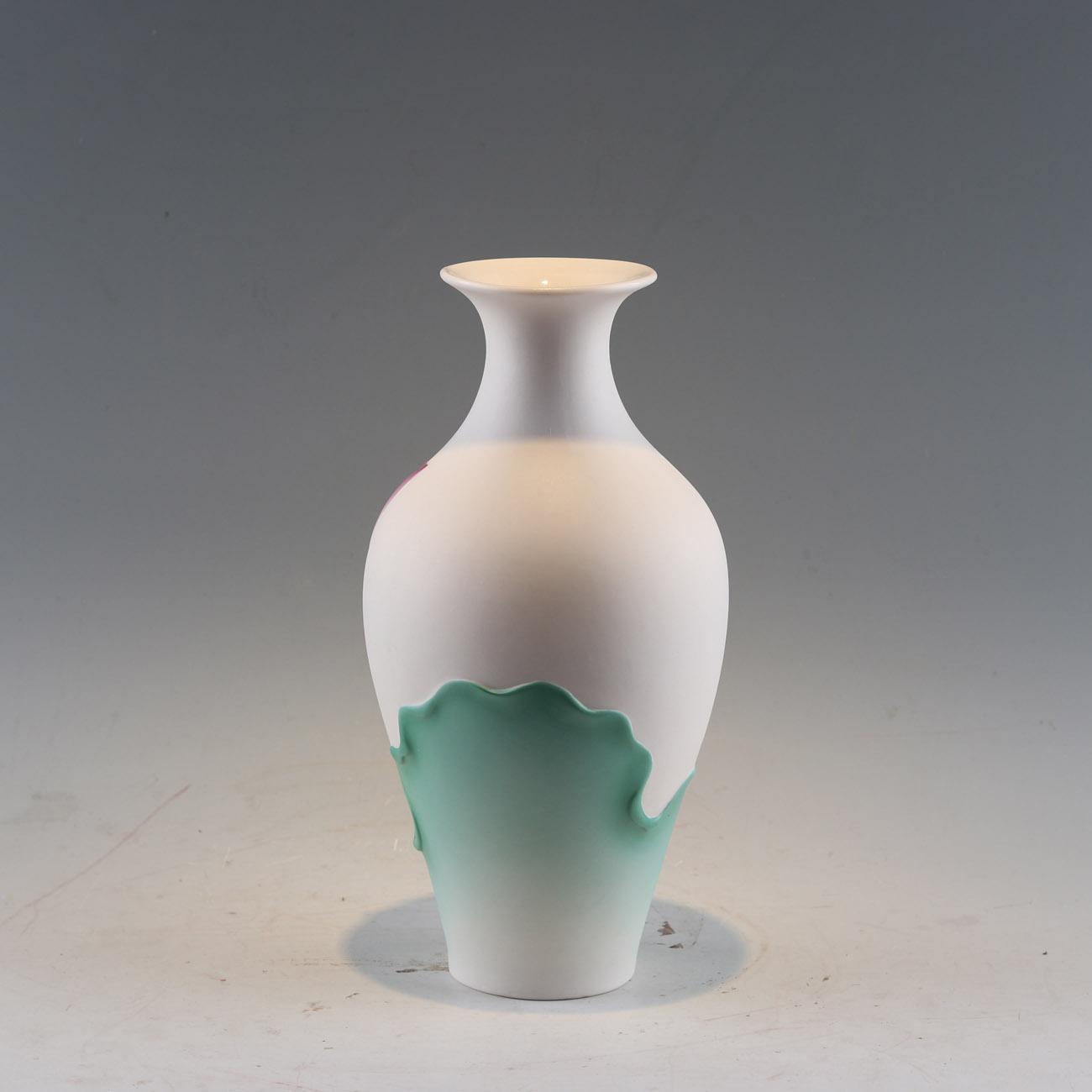 供应陶瓷莲花花瓶中式家居装饰品 4