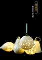 德化陶瓷燈鏤空燈現代簡約純白色陶瓷鏤空小夜燈浪漫臥室吊頂燈飾 2