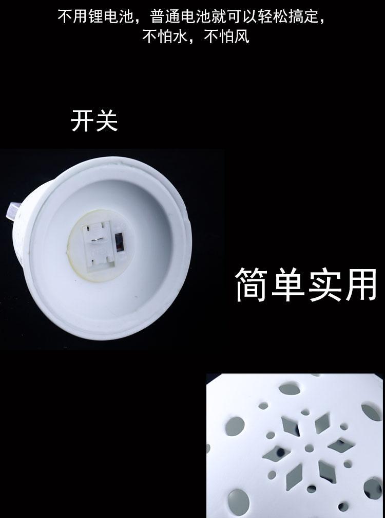 德化陶瓷燈鏤空燈現代簡約純白色陶瓷鏤空小夜燈浪漫臥室吊頂燈飾 4