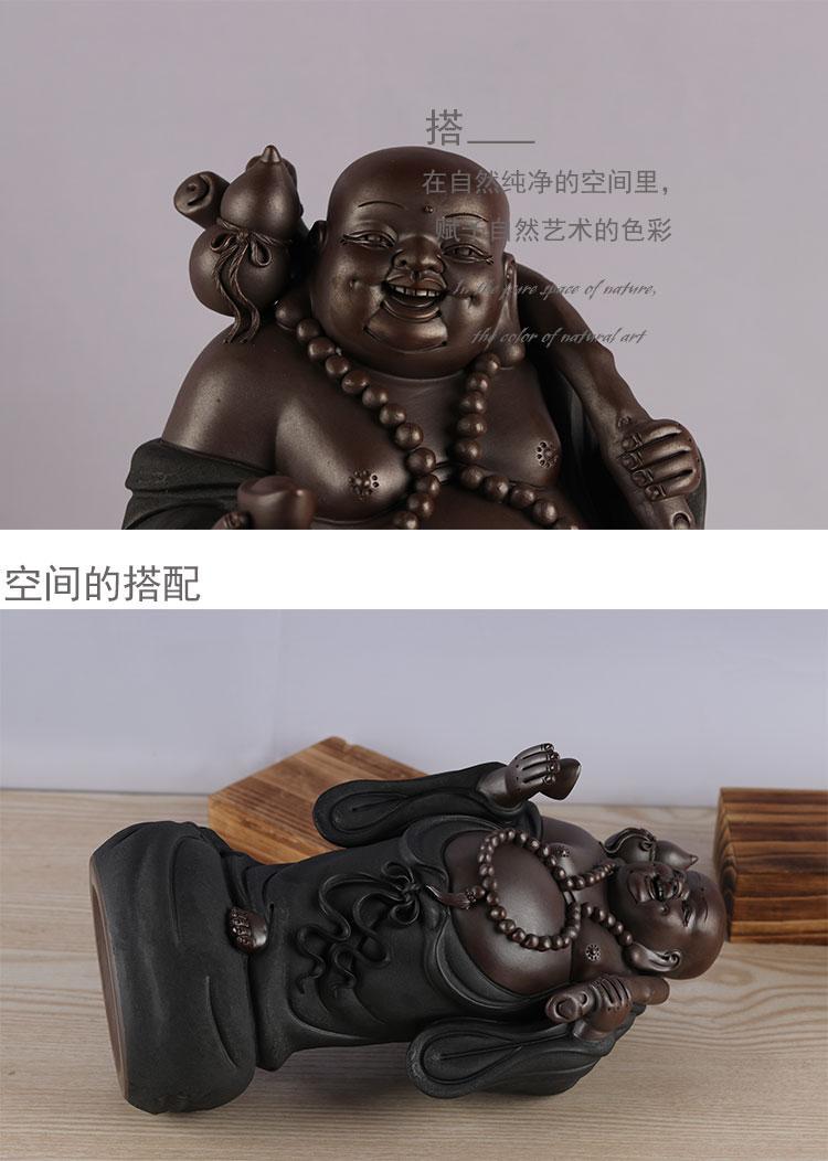 陶瓷佛像彌勒佛笑佛辦公室客廳桌面裝飾喬遷禮物開業送禮招財擺件 5