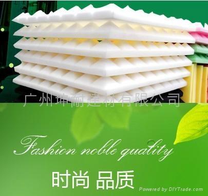 广州坤耐吸回音杂音材料,环保粉红色金字塔海绵,异型海棉 3