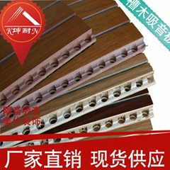 groove wooden acoustic material,high quality wooden noise reduced board.
