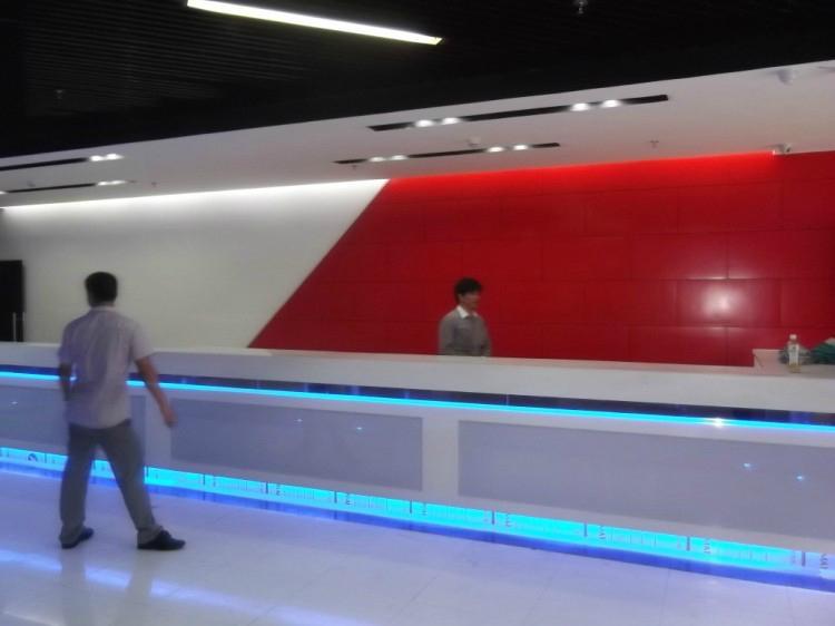 办公室前台背景板 顺德布艺装饰板 前台墙背吸音板 4