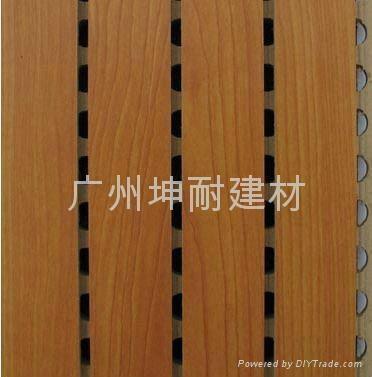 坤耐高品质吸音板 槽孔条形板 上海无锡苏州15MM木质吸音板 3