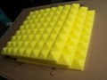 yellow colour Pyramid sound absorption