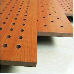 孔木吸音板 声音扩散天花板 15MM厚 吸音装饰材料 暖色