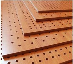 12MM孔木板 8釐孔木吸音板 穿孔吊頂吸音散音天花板