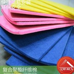 帶背膠彩色聚酯纖維吸音棉,牆體表面吸音裝飾棉
