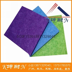 thin polyester fiber board for cinema noiseproof and sound insulation