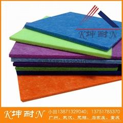 8MM聚酯纤维板 深圳墙体装饰板 佛山吸音板 坤耐建材