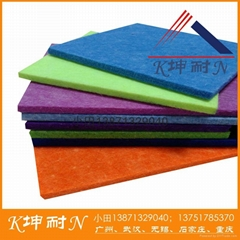 8MMpolyester fiber board for wall decrate and sound insulation