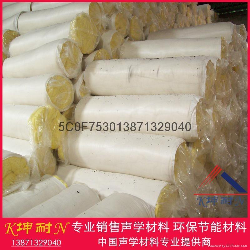廣州現貨帶鋁箔玻璃棉氈12kg50mm吸音棉保溫隔熱材料 2