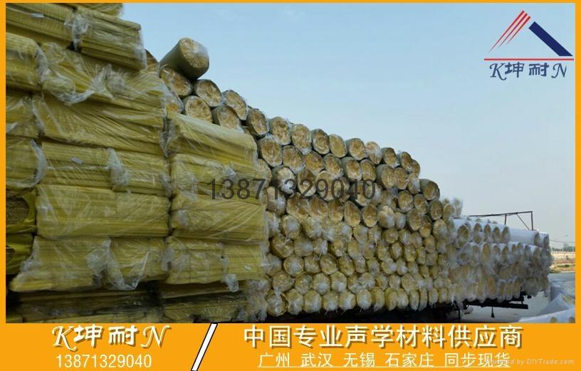 高效隔音玻璃棉板 80KG/50MM玻璃棉板 武汉市玻璃棉板 2