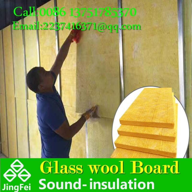 high qualityglass wool board used in interior wall filled to reduced the noise  6
