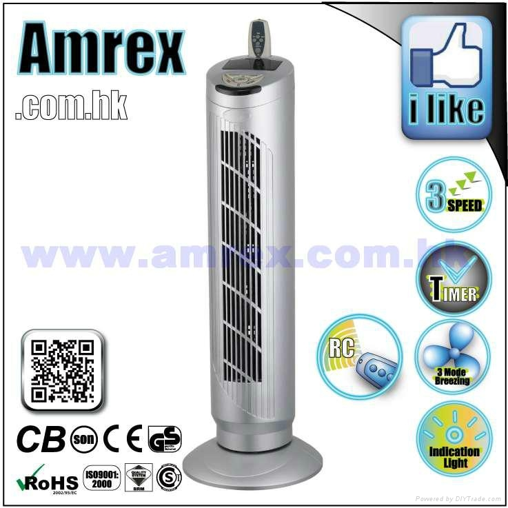 """29"""" TOWER FAN WITH REMOTE CONTROL 1"""