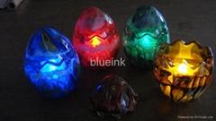led蠟燭燈手工彩繪玻璃蛋