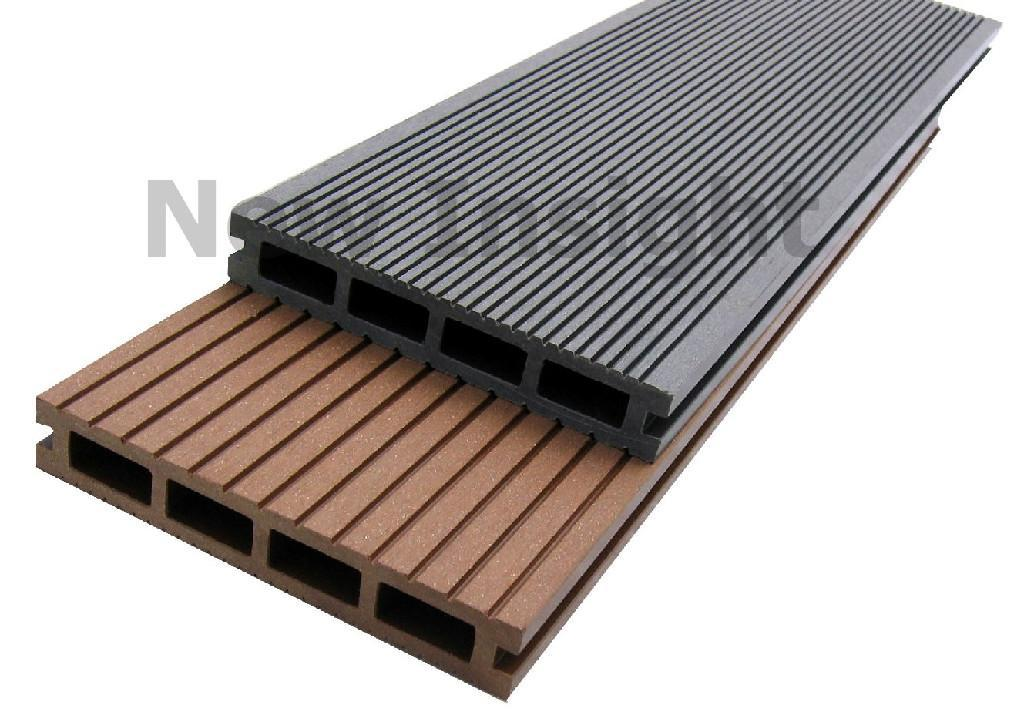 Wood plastic composite wpc decking board 150 x 24 for Plastic composite decking