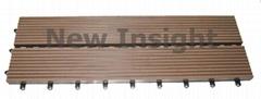 Wood plastic composite(WPC) decking tile 455×152X 37