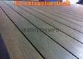 Top quality Co-extrusion WPC decking   2