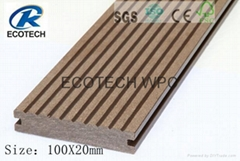 Fireproof Composite  WPC  Decking  ( CE ,FSC,SGS ,ISO)