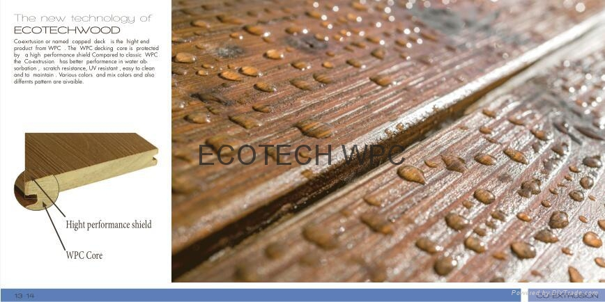 Top quality Co-extrusion WPC decking  (140x20mm) 1