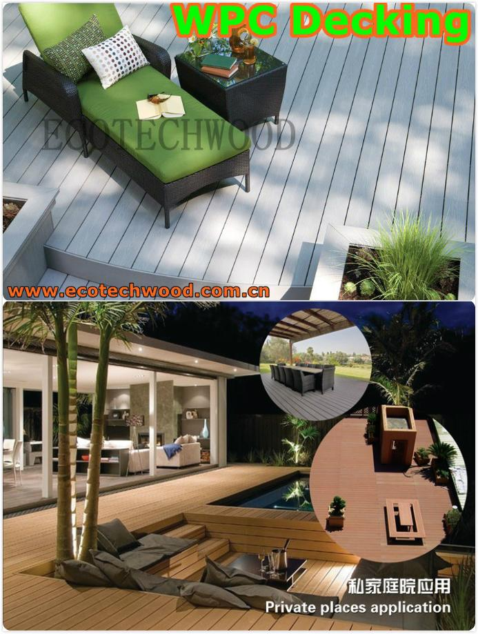 Wood Plastic composite (WPC) Decking& flooring(146X23mm) 4