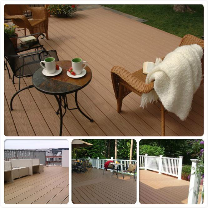Wood Plastic composite (WPC) Decking& flooring(146X23mm) 6