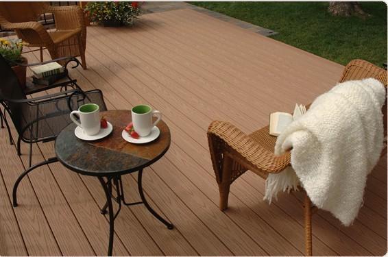 Wood Plastic composite (WPC) Decking& flooring(125X23mm) 2