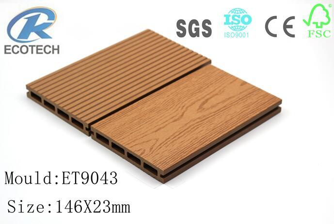 Wood Plastic composite (WPC) Decking& flooring(146X23mm) 1