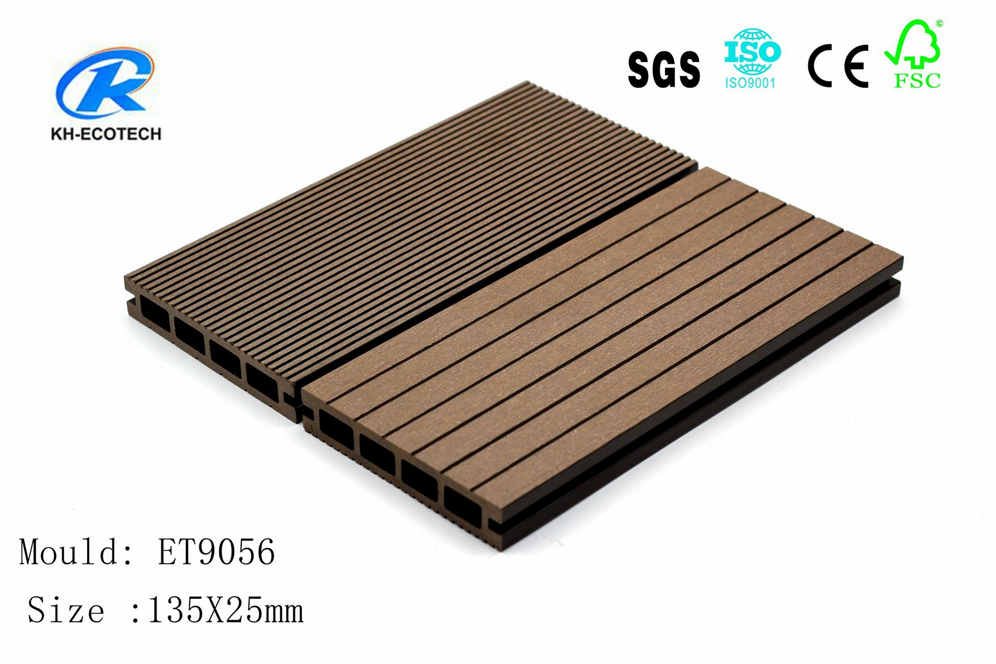 Fireproof Composite  WPC  Decking  ( CE ,FSC,SGS ,ISO) 1