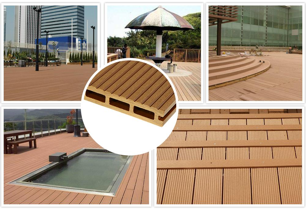 Waterproof and non-cracked wpc outdoor and indoor decking 1