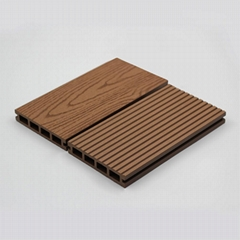 Patented, surface sanded wpc decking for outdoor
