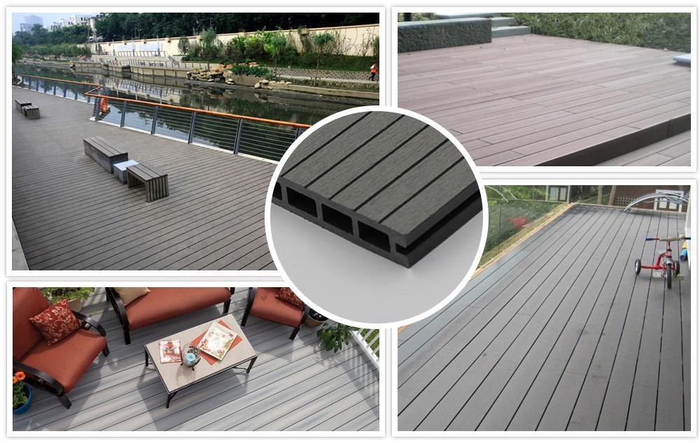 Wood plastic composite decking 1