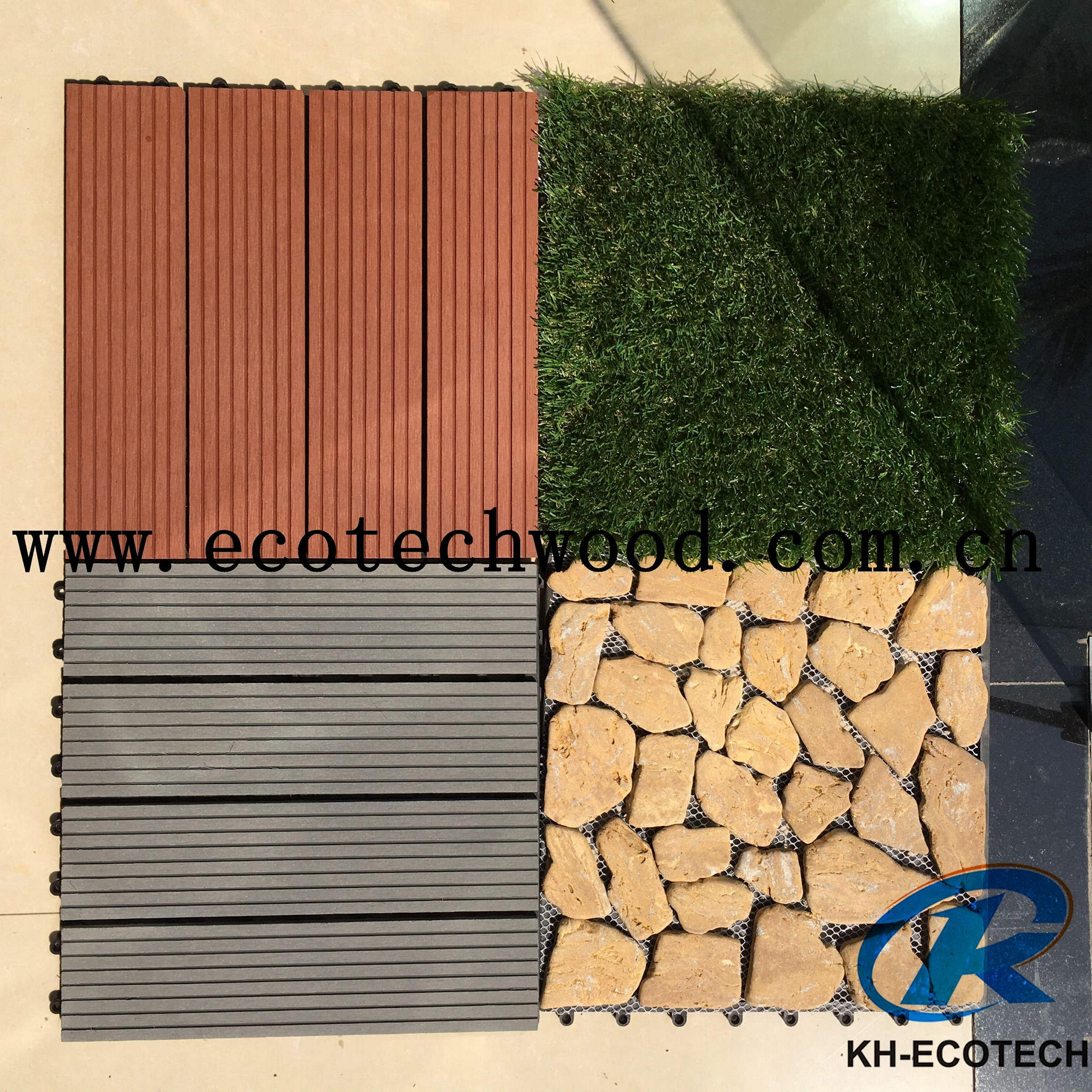 WPC Decking Fake/Artificial Grass Tile 1