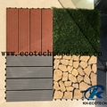 WPC Decking Fake/Artificial Grass Tile