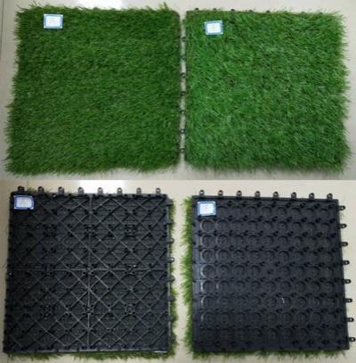 WPC Decking Fake/Artificial Grass Tile 3