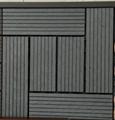 WPC Decking Fake/Artificial Grass Decking Tile 2