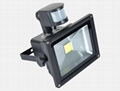 20W LED COB Solar flood light with PIR sensor 3