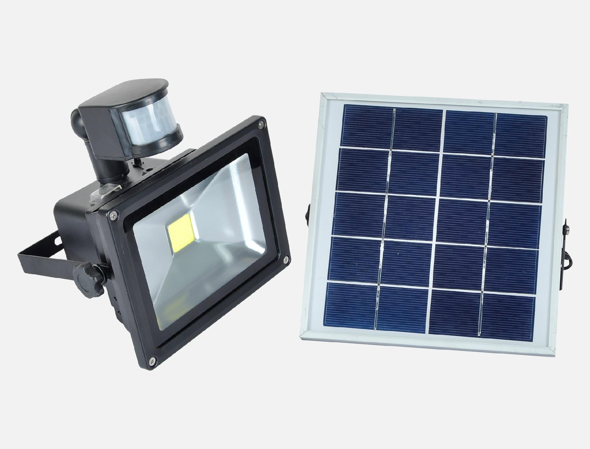 太陽能感應充電投光燈 1
