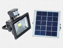 太陽能感應充電投光燈
