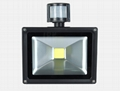 50W COB LED Solar flood light with PIR sensor