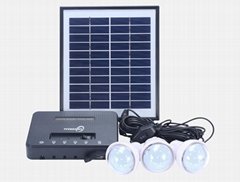 8W Solar Home Lighting Kit - 4 bulbs
