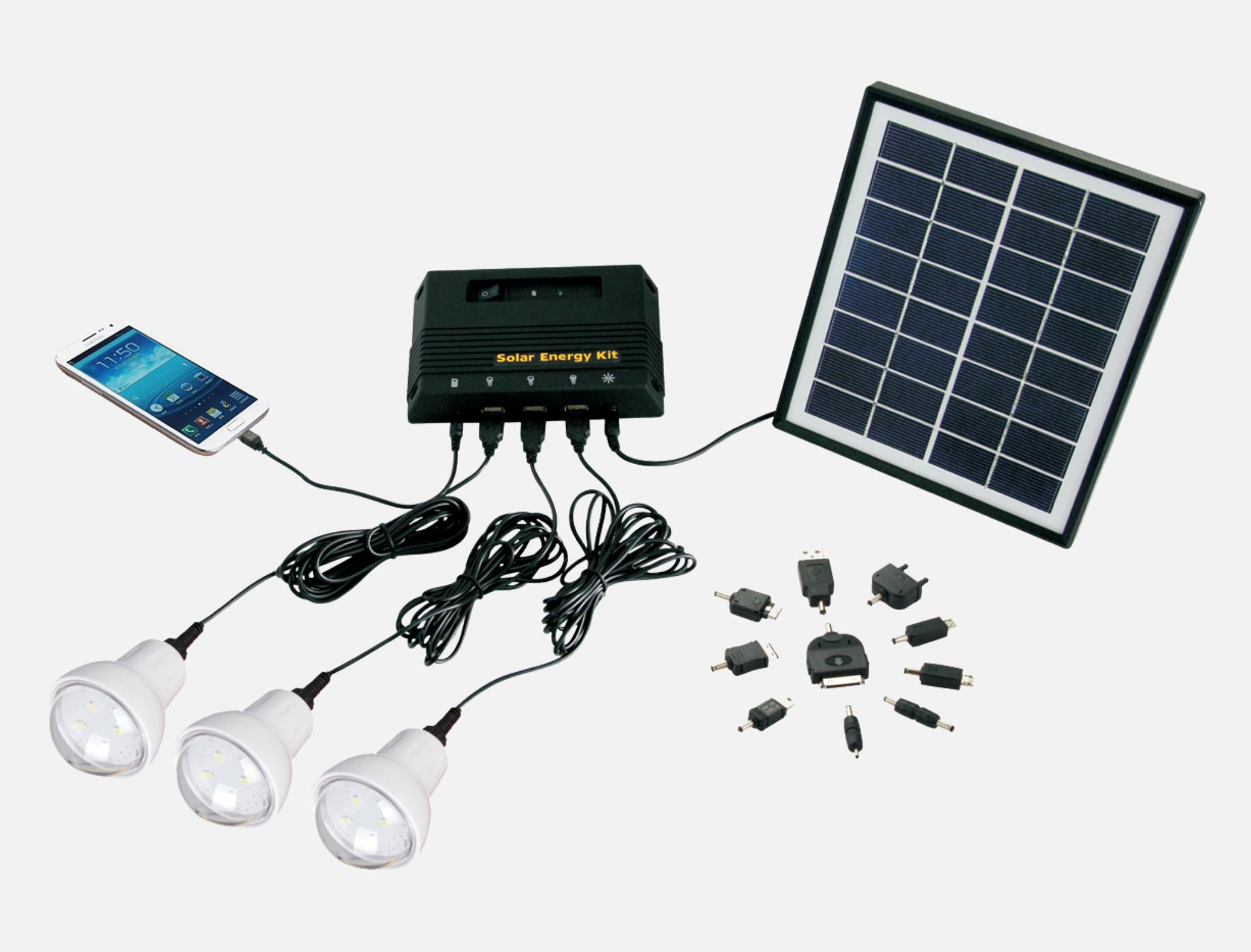 4W Solar Home Lighting Kit - 2 bulbs 2