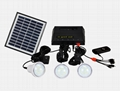 4W Solar Home Lighting Kit - 3 bulbs