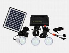 4W Solar Home Lighting Kit - 3 bulbs