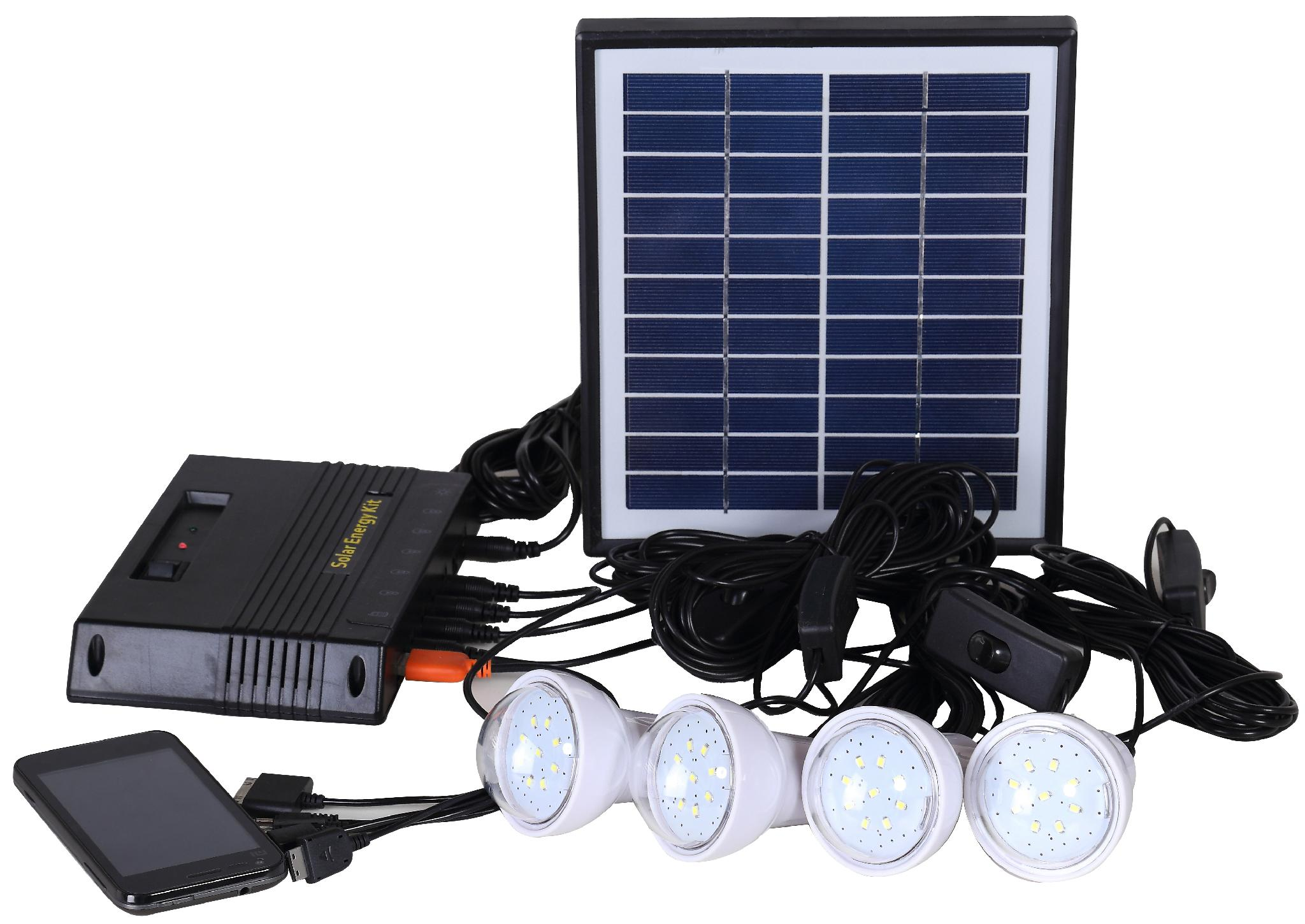 4W Solar Home Lighting Kit - 4 bulbs 2