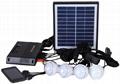 4W Solar Home Lighting Kit - 4 bulbs
